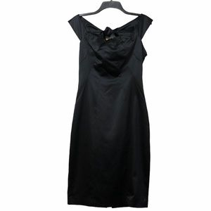 The limited black satin dress NWT size 8 bow back